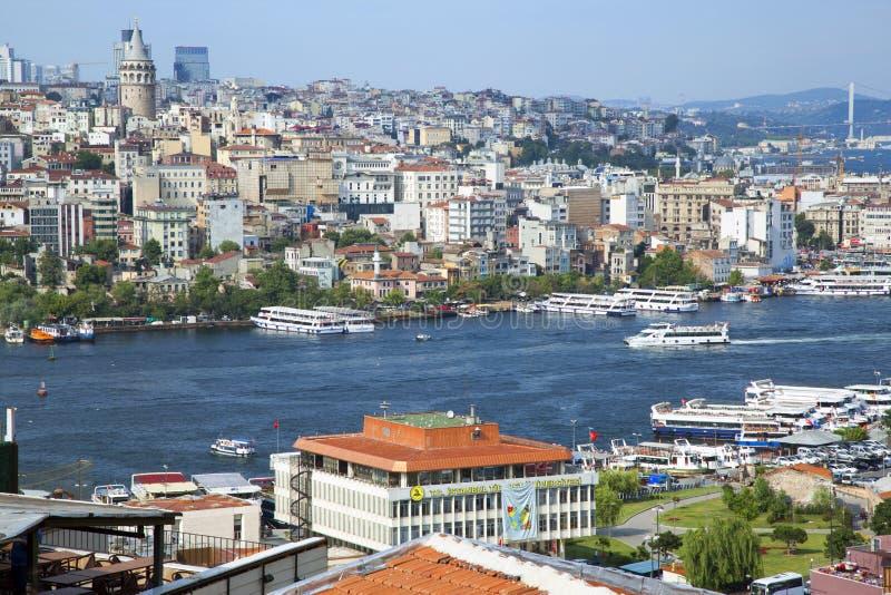 美好的海视图在伊斯坦布尔 免版税图库摄影
