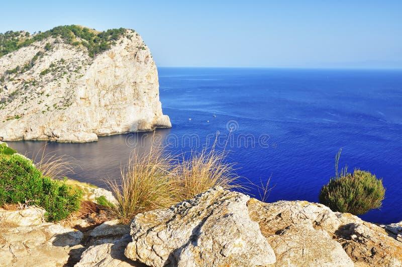 美好的海角formentor mallorca视图 图库摄影