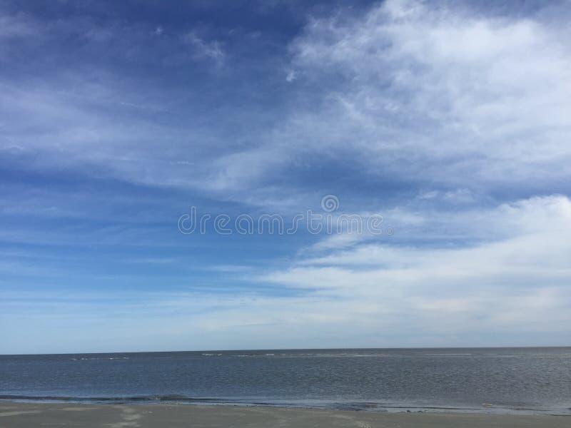 美好的海滩天 免版税库存图片