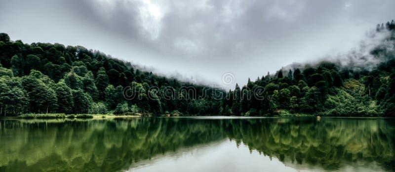美好的湖横向 免版税图库摄影