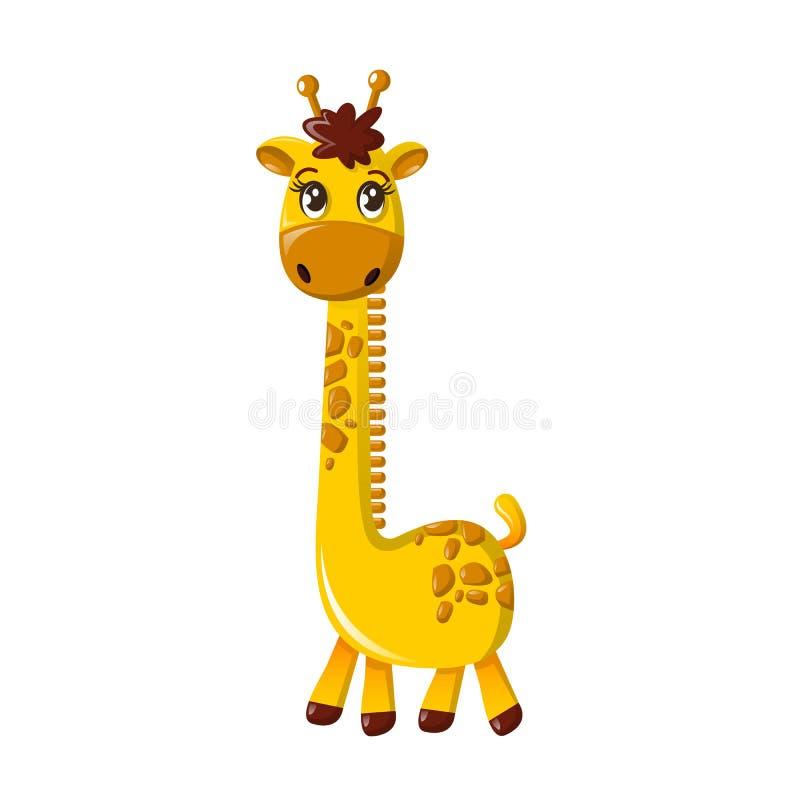 美好的滑稽的动画片高长颈鹿 与长收缩的大长颈鹿 皇族释放例证