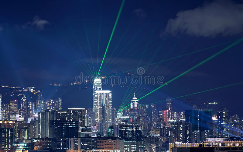 美好的激光晚上 免版税库存图片