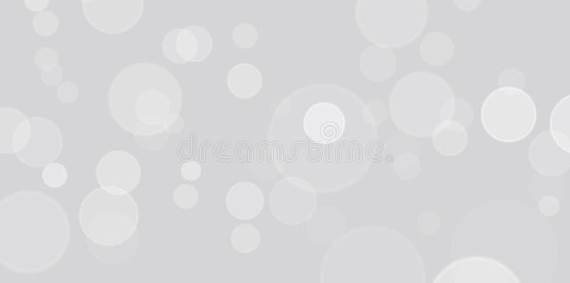 美好的灰色和白色Bokeh背景 库存图片