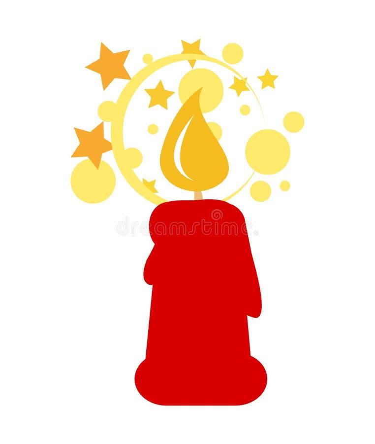美好的灼烧的蜡烛 平的象 清洗设计 适应图标 库存例证