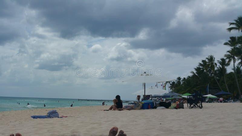 美好的热带海滩夏天 免版税库存照片