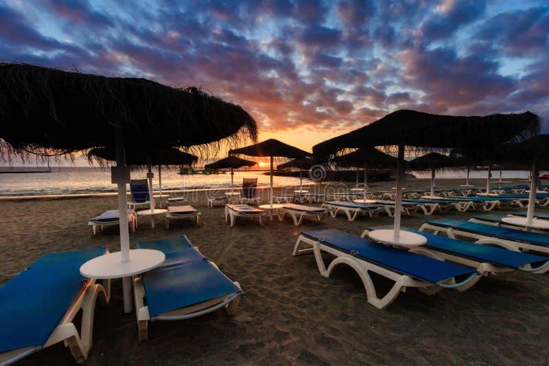 美好的特内里费岛海景-肋前缘阿德赫 库存图片