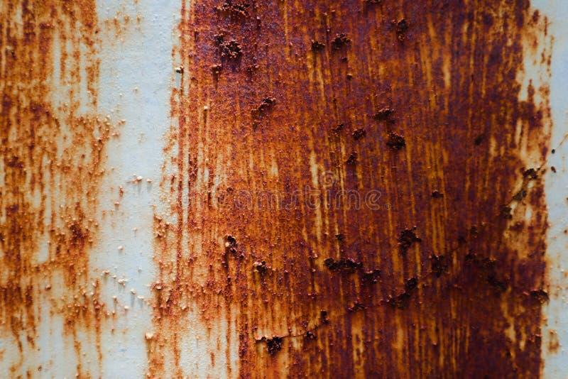 美好的特写镜头纹理提取老生锈的金属和钢背景 免版税库存照片