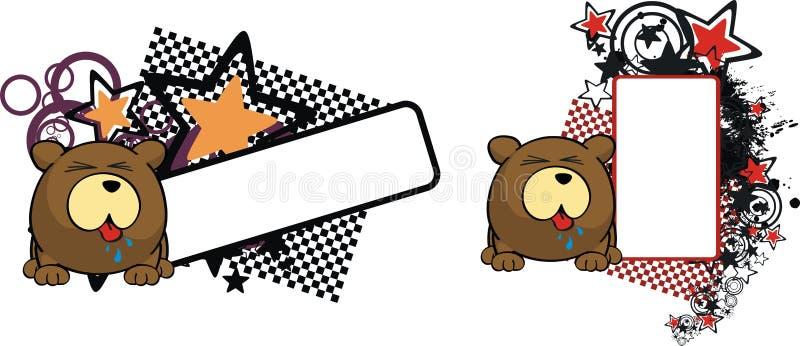 美好的玩具熊动画片拷贝空间表示 皇族释放例证