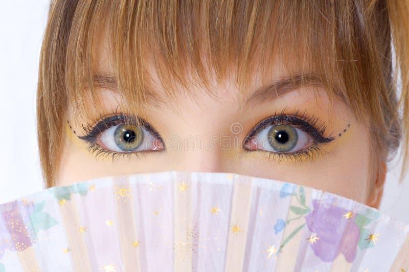 美好的眼睛女孩查找 库存图片