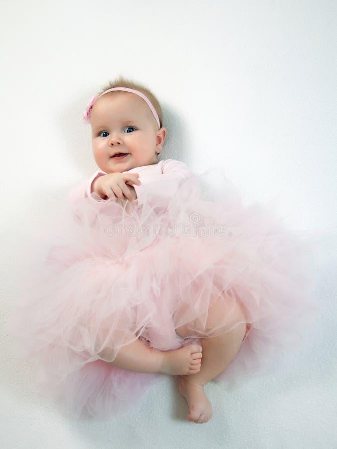 美好的礼服女孩粉红色 免版税库存照片