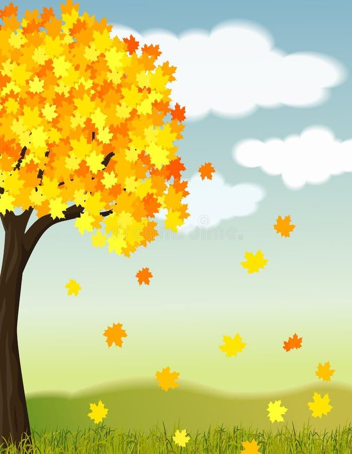 美好的秋天的例证 向量例证