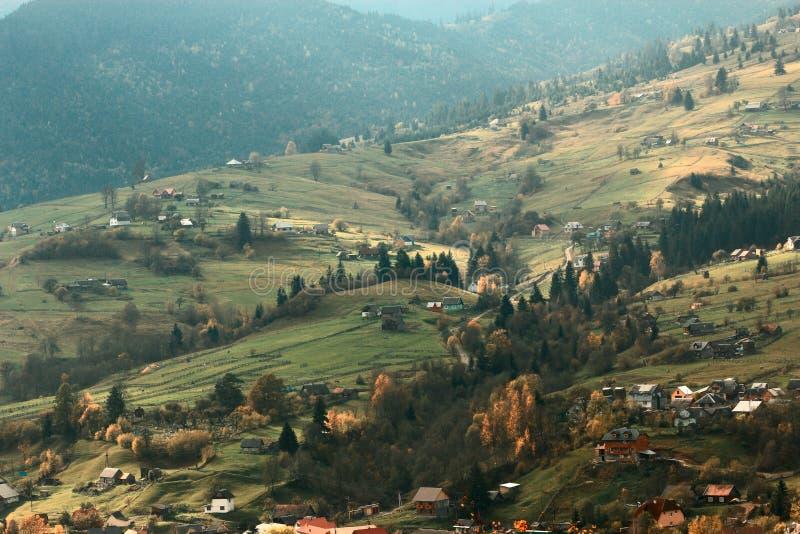 美好的秋天风景,欧洲山,欧洲旅行,秀丽世界 库存照片