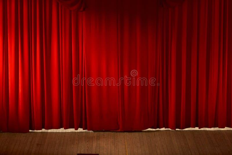 美好的窗帘红色 免版税库存照片