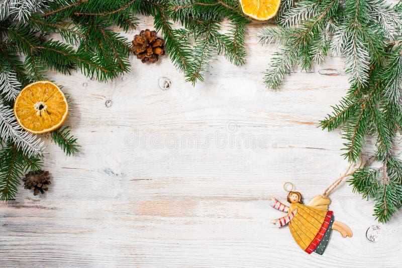 美好的背景新年和圣诞节 图库摄影