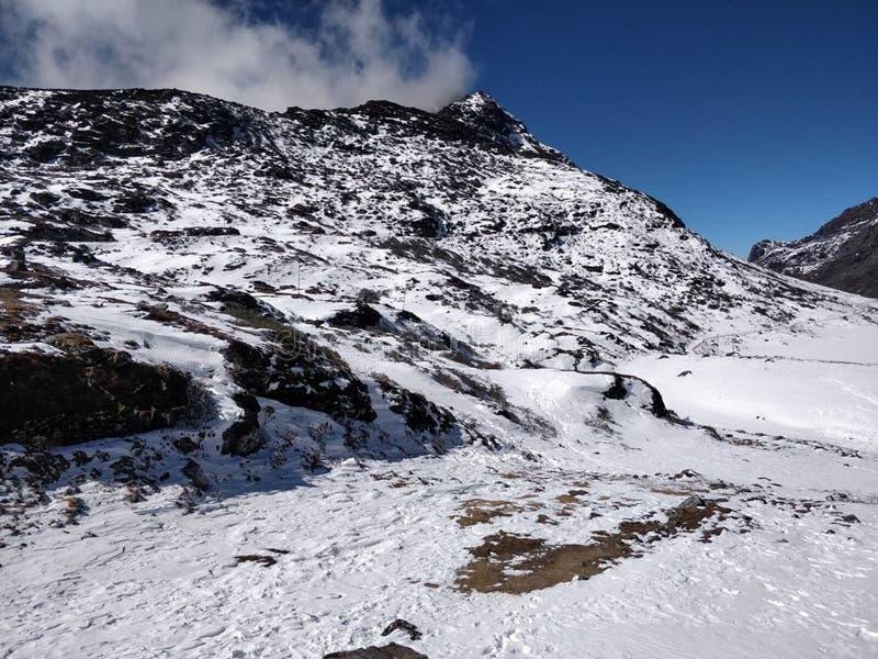 美好的自然,降雪的天气,令人敬畏的图象,印度 免版税图库摄影