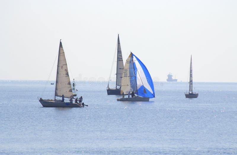 美好的航行乘快艇看法 免版税图库摄影
