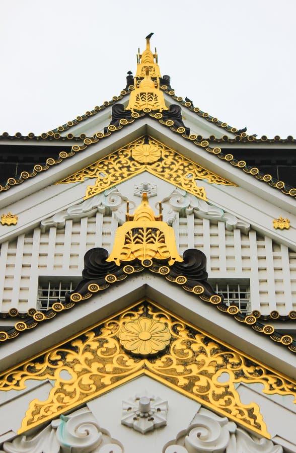 美好的艺术和建筑学在大阪城堡 免版税库存图片