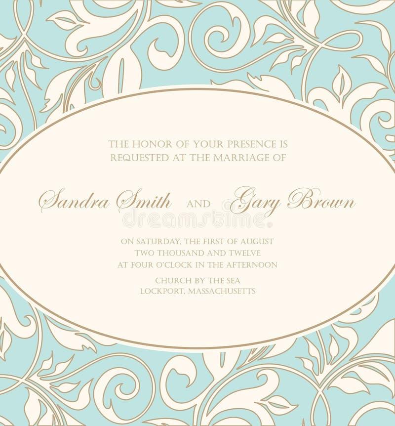美好的花卉婚礼邀请 库存例证
