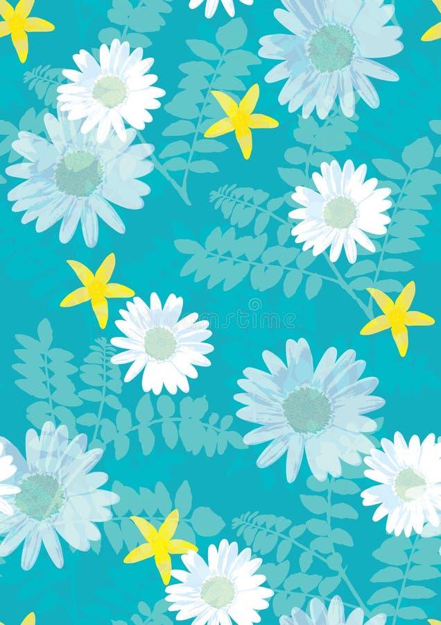 美好的花卉模式无缝的瓦片 皇族释放例证