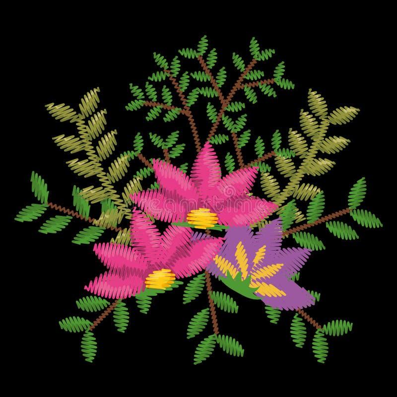美好的花卉装饰象 皇族释放例证
