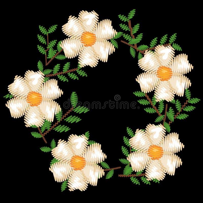 美好的花卉装饰象 库存例证