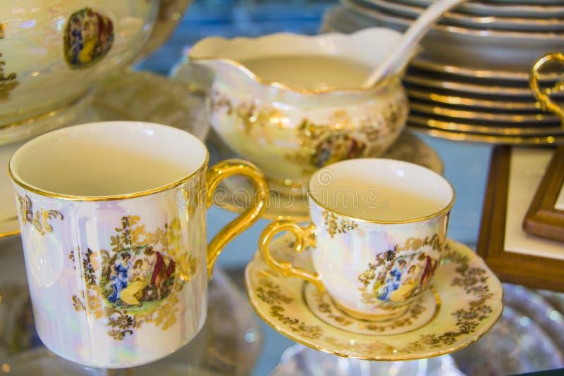 美好的茶具 库存图片