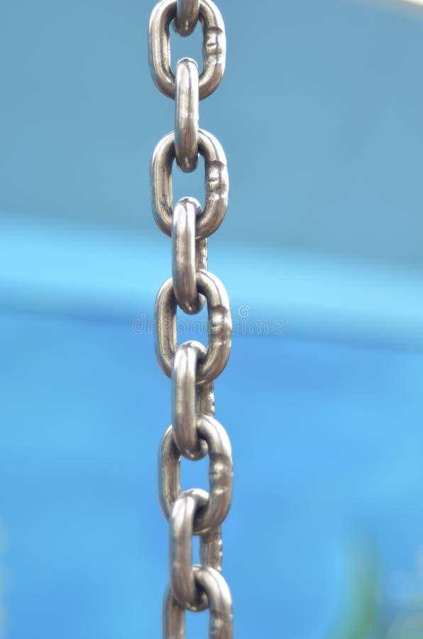 美好的链尺寸图例证金属三非常 库存图片