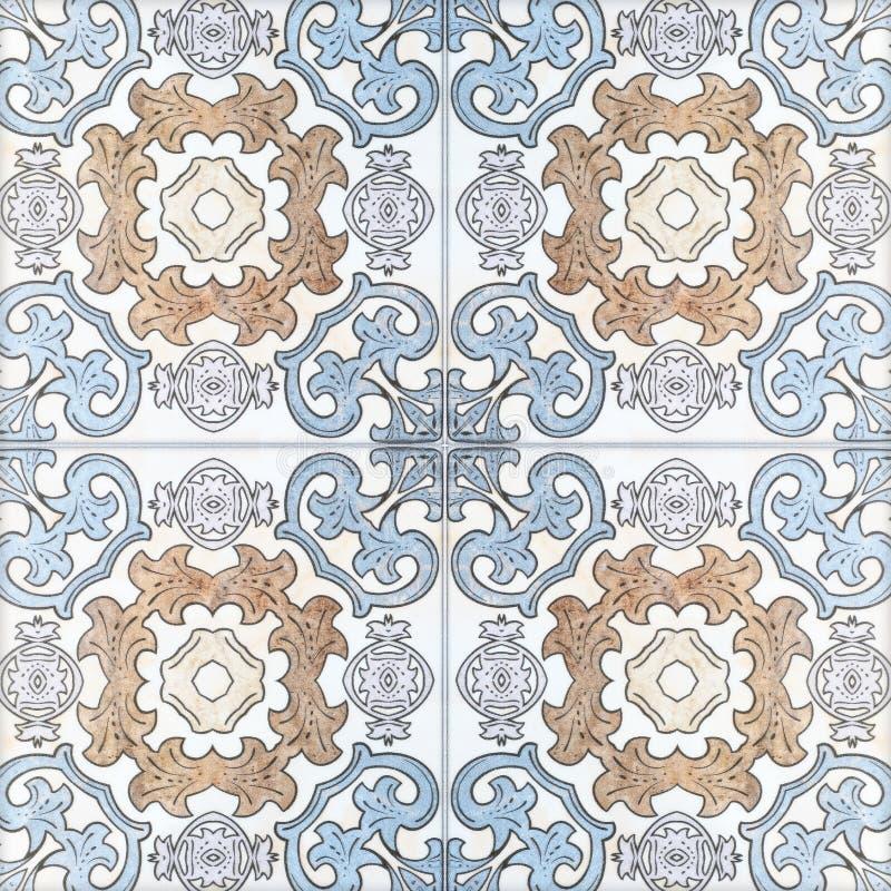 美好的陶瓷砖样式手工造 库存图片