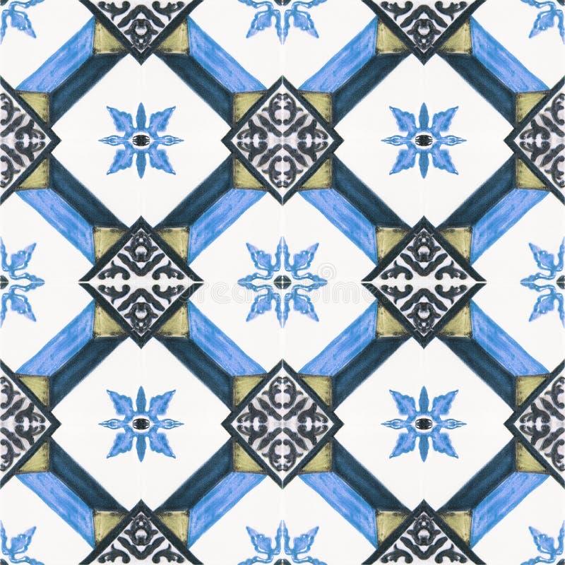 美好的陶瓷砖样式 皇族释放例证