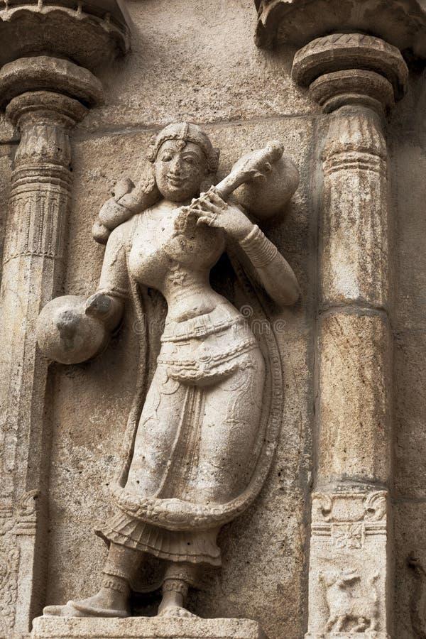 美好的雕塑来自硬岩 免版税库存照片