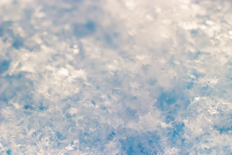 美好的雪纹理 免版税库存图片