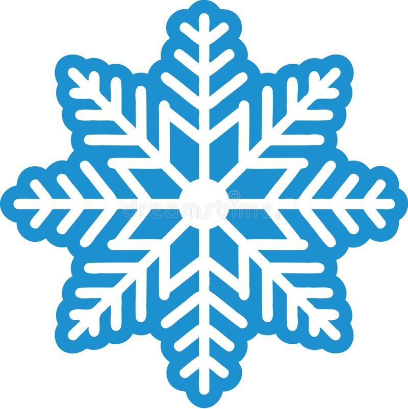 美好的雪花冬天 库存例证