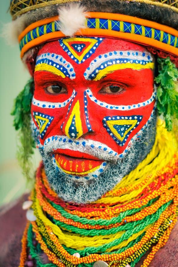 美好的颜色在巴布亚新几内亚 库存图片