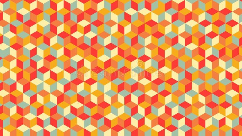 美好的颜色的几何样式,也最佳为墙纸 库存图片