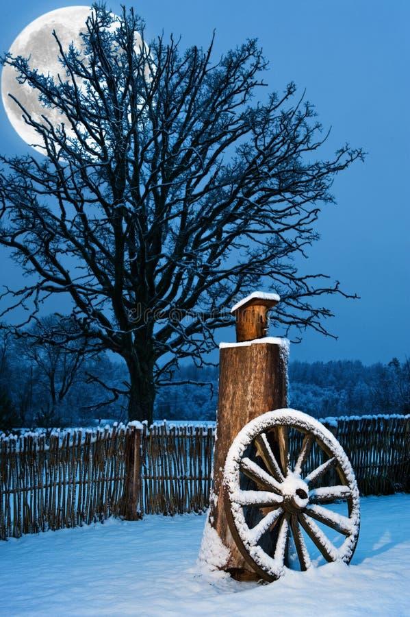 美好的风景冬天 库存照片