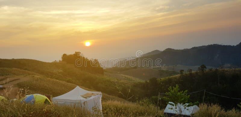 美好的风景在北部泰国 图库摄影