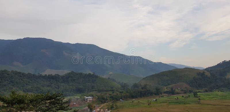 美好的风景在北部泰国 库存照片