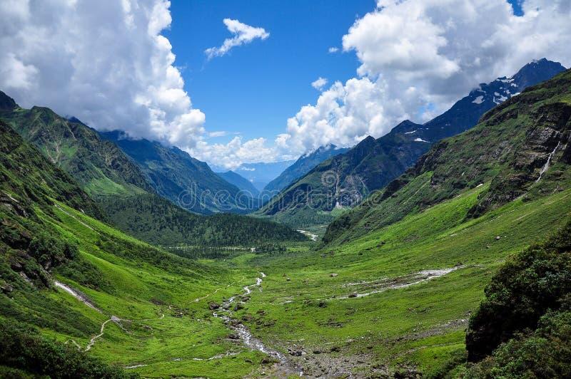 美好的风景在西藏 免版税库存照片