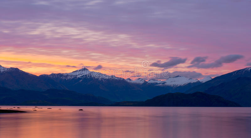美好的风景新西兰。 免版税图库摄影