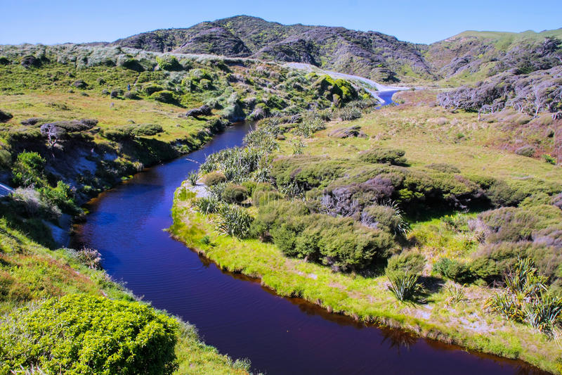 美好的风景阿贝尔・塔斯曼,新西兰 图库摄影