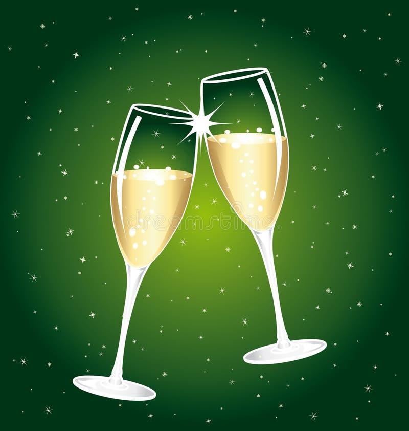 美好的香槟多士 库存例证