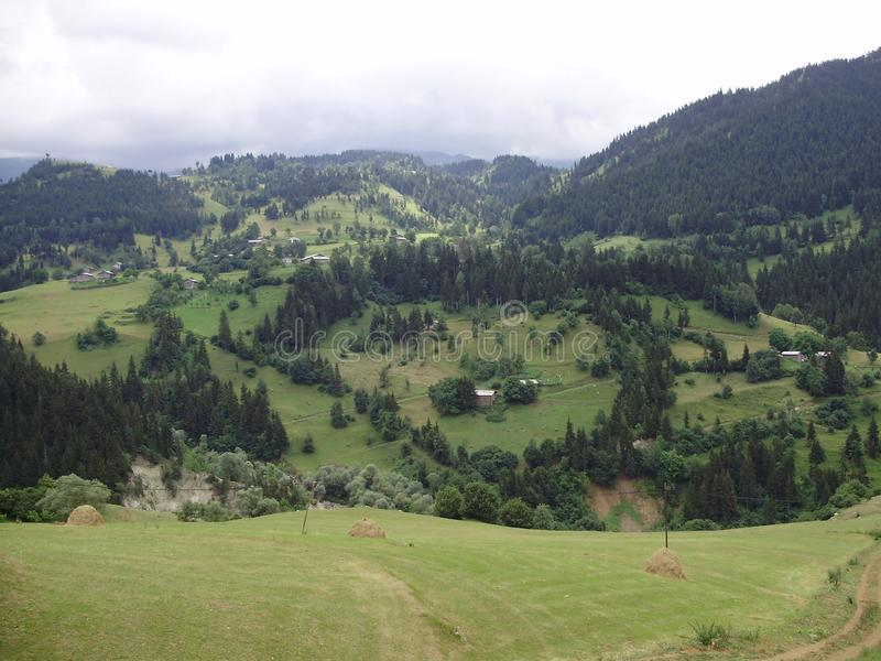 美好的高山风景 免版税库存照片