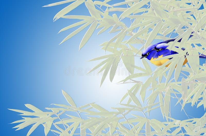 美好的鸟和叶子书套 皇族释放例证