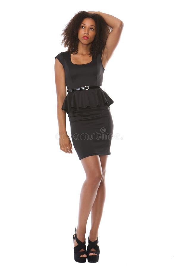 美好的黑女性时装模特儿 库存照片