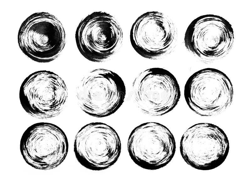 美好的水彩黑色设计元素 库存图片