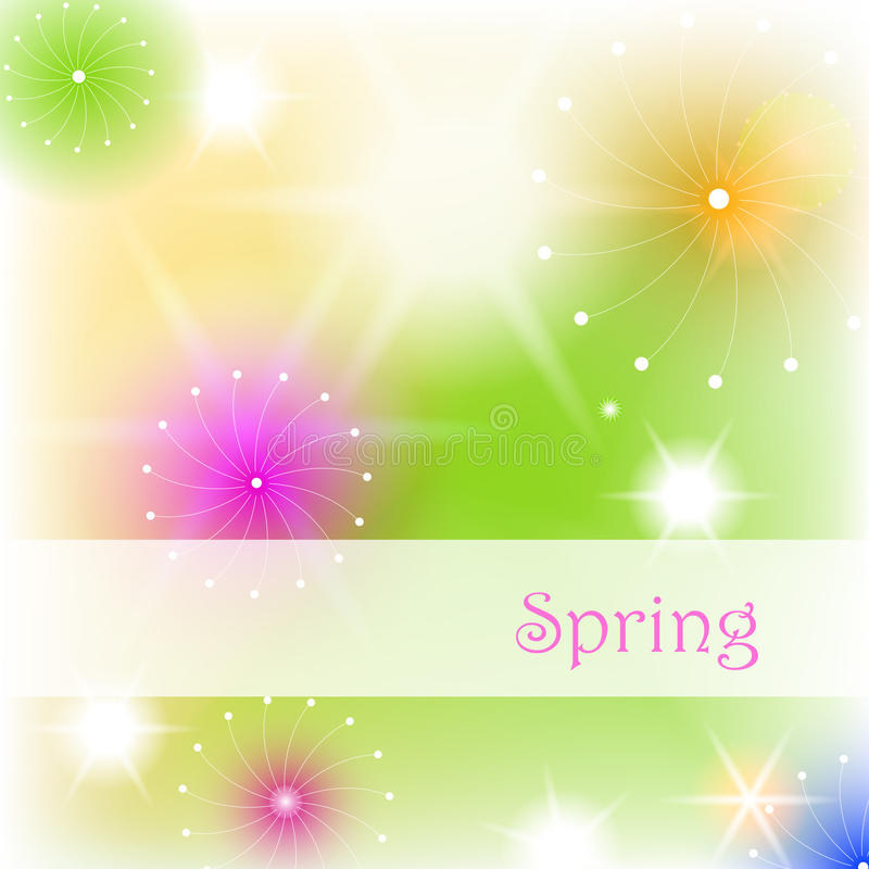 美好的bokeh花卉例证春天 皇族释放例证