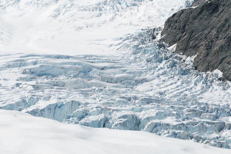 美好的Fox冰川直升机视图,西海岸南岛新西兰 免版税库存照片