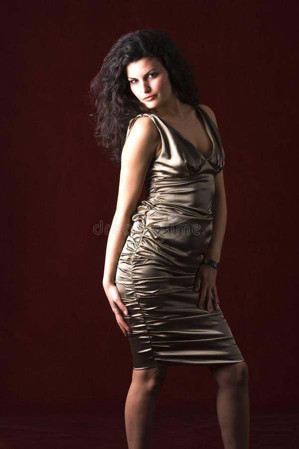 美好礼服设计缎佩带 库存图片