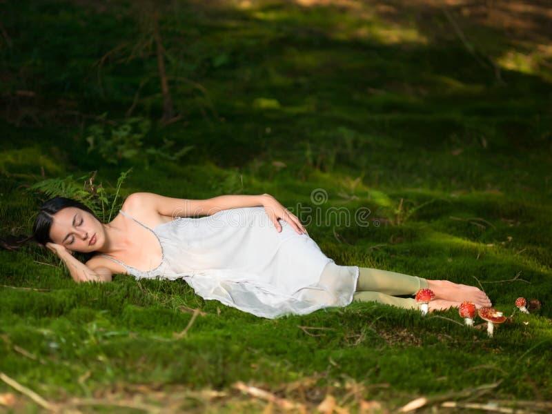美好神仙睡觉 库存照片