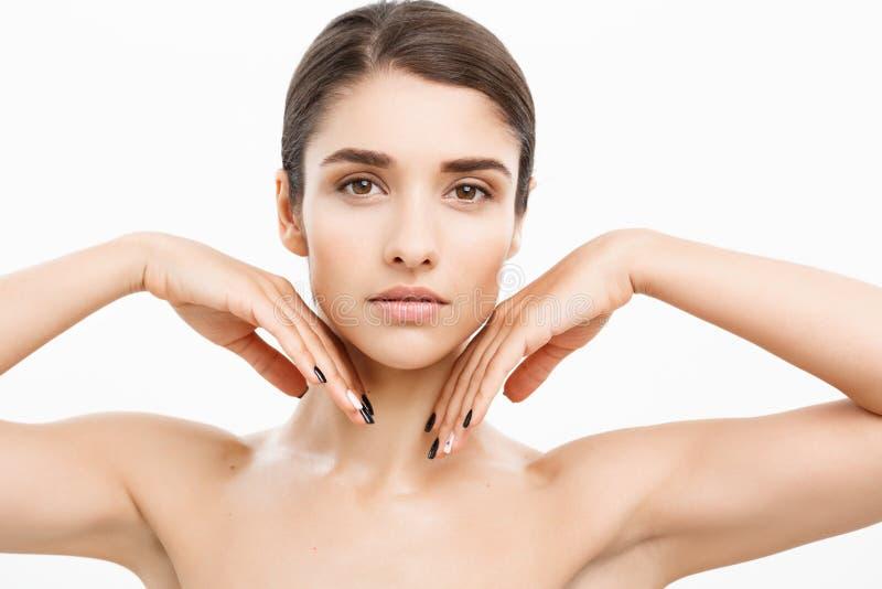 美好美好的妇女面孔画象秀丽护肤的概念 库存照片